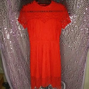 Gorgeous red lace party dress holiday season sz M
